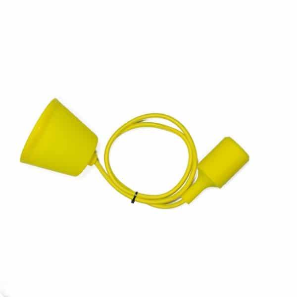 silicone pendel azuur geel