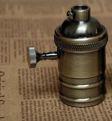 Free-shipping-Pure-Copper-font-b-E27-b-font-Vintage-Lamp-font-b-Holder-b-font