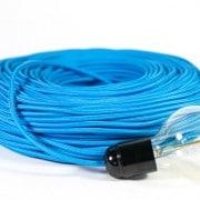 strijkijzersnoer blauw kooldraadlamp