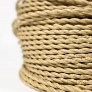 gedraaid beige strijkijzersnoer detail