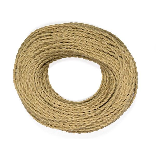 gedraaid beige strijkijzersnoer