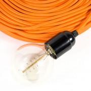 strijkijzersnoer oranje kooldraadlamp detail