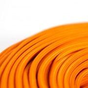 strijkijzersnoer oranje detail shot