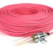 strijkijzersnoer roze kooldraadlamp